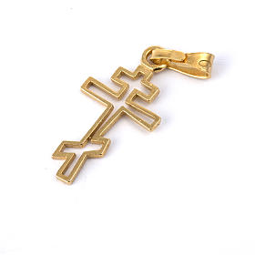 Orthodox cross in golden plated silver 800 s2