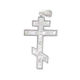 Krzyż prawosławny srebro 800 filigran s1