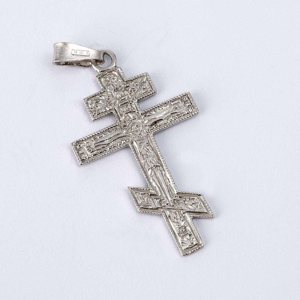 Crucifixo ortodoxo prata 925 4