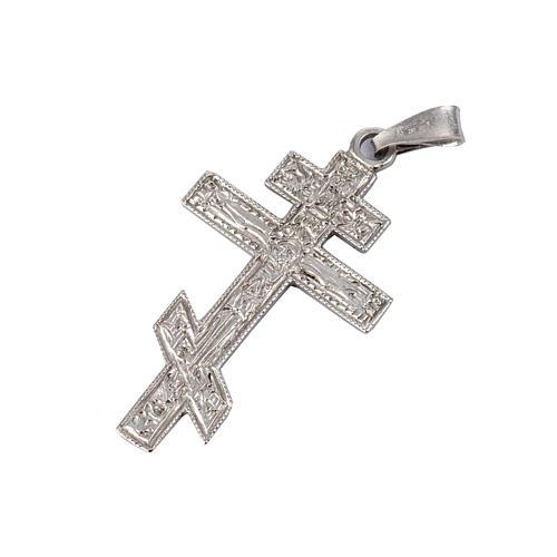 Crucifixo ortodoxo prata 925 1