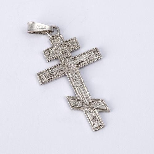 Crucifixo ortodoxo prata 925 2
