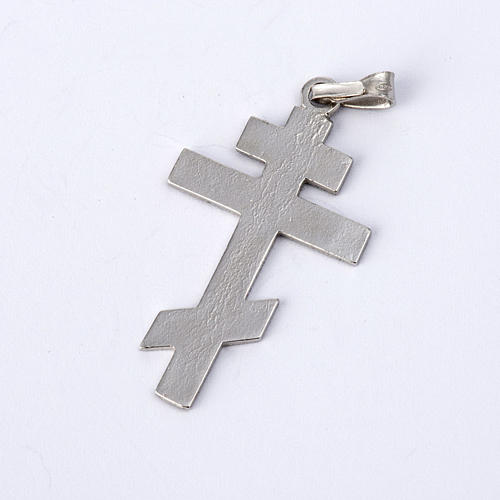 Crucifixo ortodoxo prata 925 3
