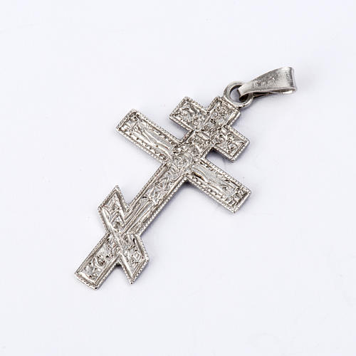 Orthodox crucifix in silver 800 1