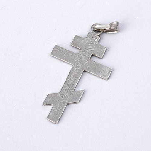 Orthodox crucifix in silver 800 5