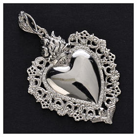 Ex-voto pendant silver 925 with decorated edge s5