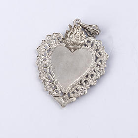 Ex-voto pendant silver 925 with decorated edge s3