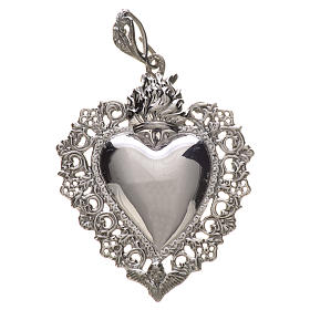 Pendentif coeur votif en argent 800 s1