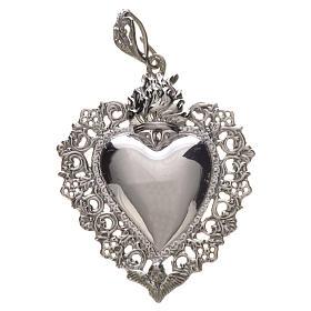 Wisiorek serce wotywne srebro 925 s4