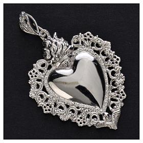 Wisiorek serce wotywne srebro 925 s5