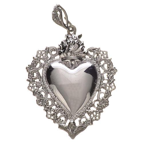 Wisiorek serce wotywne srebro 925 1