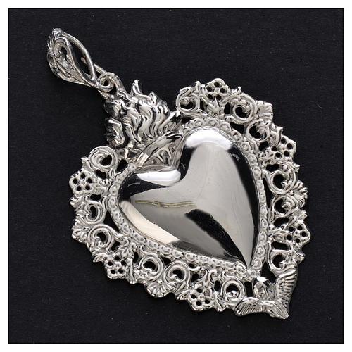 Wisiorek serce wotywne srebro 925 2