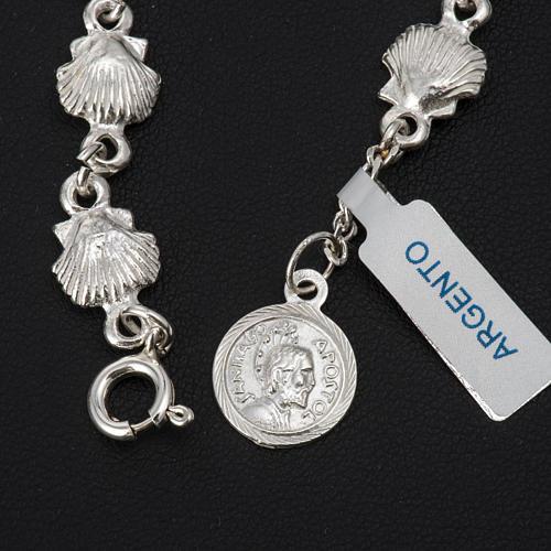 Bracelet St Jacques de Compostelle argent 925 3