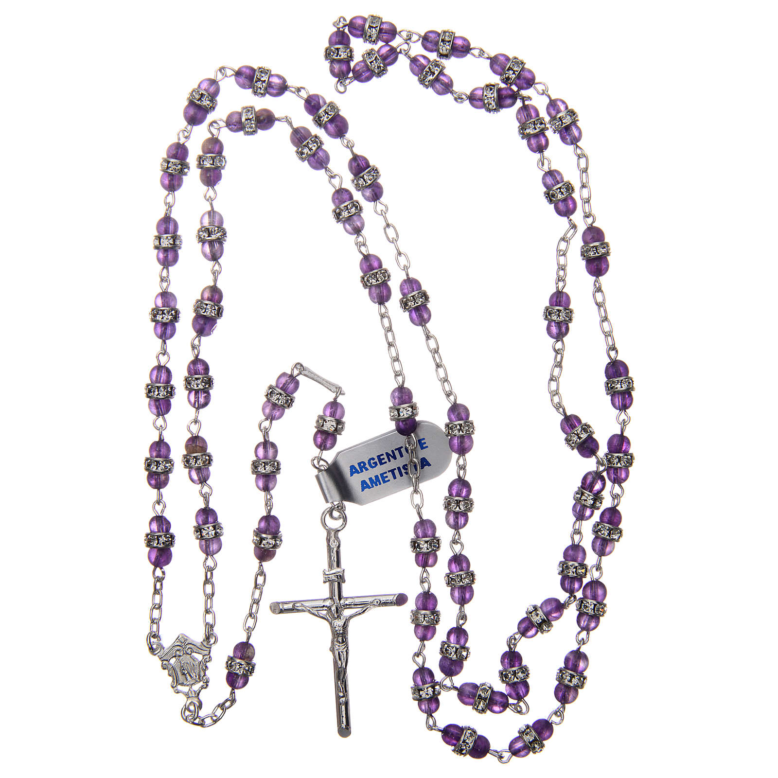Rosary beads in 925 silver and amethyst 4