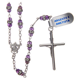 Rosary beads in 925 silver and amethyst s2