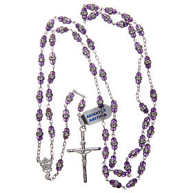 Rosary beads in 925 silver and amethyst s4
