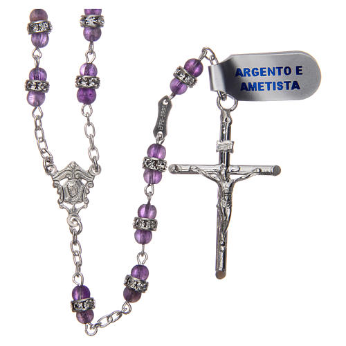 Rosary beads in 925 silver and amethyst 1