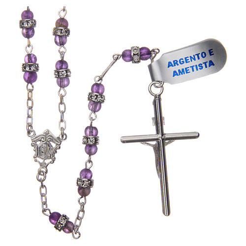 Rosary beads in 925 silver and amethyst 2