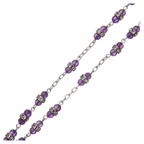 Rosary beads in 925 silver and amethyst 3