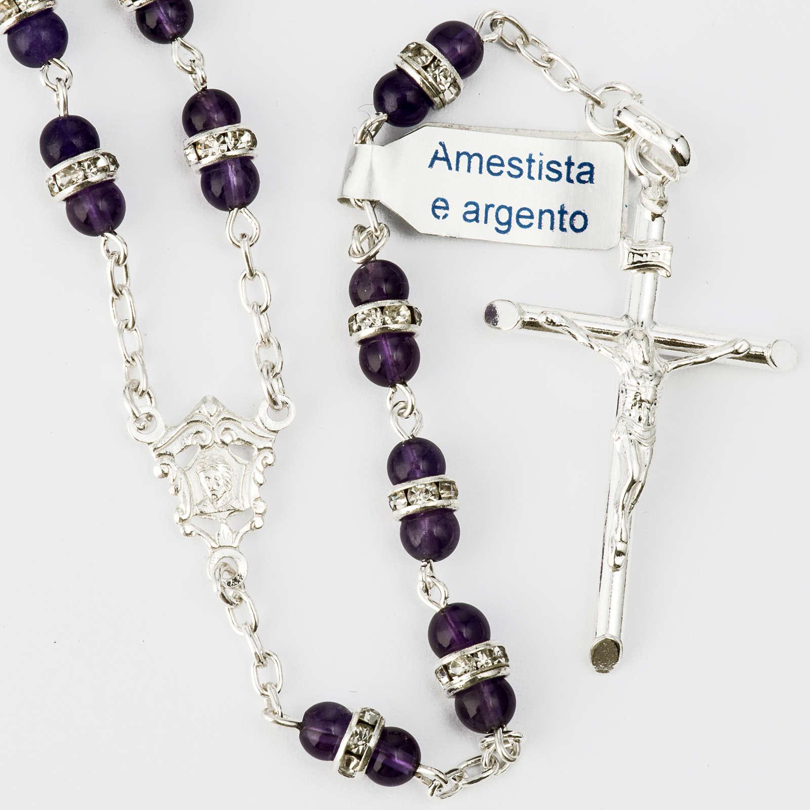 Rosario Ametista e argento 800 4