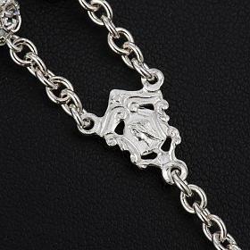 Terço Strassball branco prata 925 contas 8 mm s4