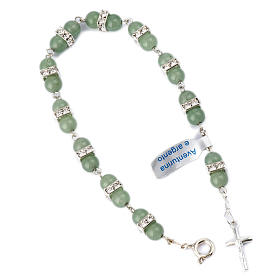 Silver bracelets: Bracelet, One Decade rosary beads, Aventurine and 925 silver