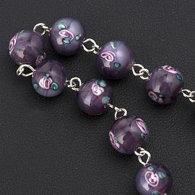 Bracelet with 0,31in purple Perle a Lume venetian beads s3