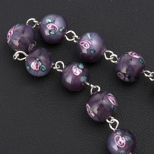 Bracelet with 0,31in purple Perle a Lume venetian beads 3