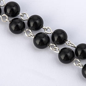 Rosary beads with Roman basilicas, Silver and onyx 6 mm s3