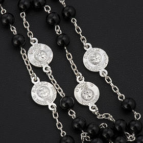 Rosary beads with Roman basilicas, Silver and onyx 6 mm s4
