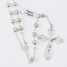 Rosenkranz in Filigranarbeit aus 800er Silber mit 6mm Perlen s1