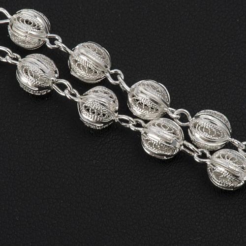 Rosenkranz in Filigranarbeit aus 800er Silber mit 6mm Perlen 4