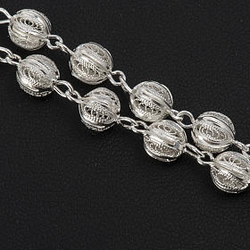 Terço filigrana prata 800 contas 6 mm s4