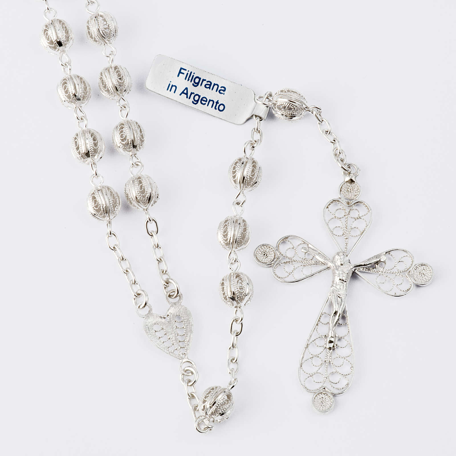 Rosary beads filigree in 800 silver 0,24in 4