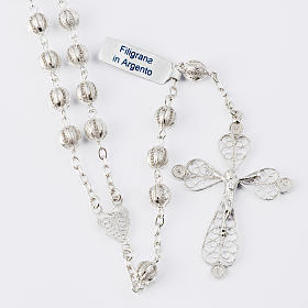 Rosary beads filigree in 800 silver 0,24in s1