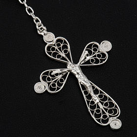 Rosary beads filigree in 800 silver 0,24in s3