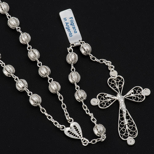 Rosary beads filigree in 800 silver 0,24in 2