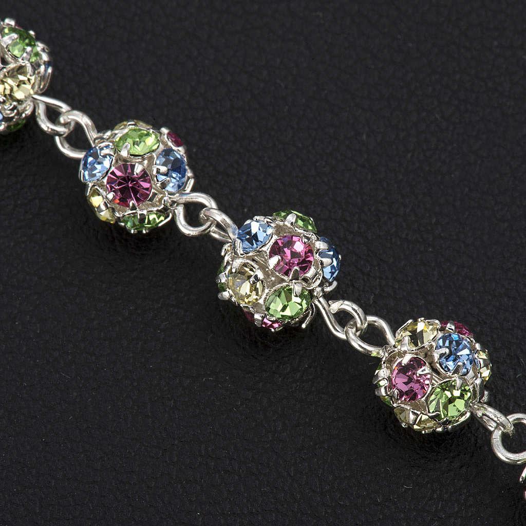 Bracelet dizainier argent 925 strassball multicolore 4