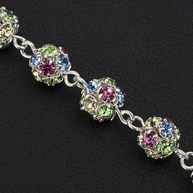 Bracelet dizainier argent 925 strassball multicolore s3