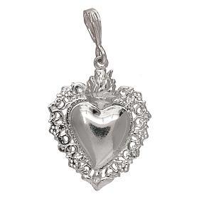 Pingente coração ex-voto em prata 925 s1