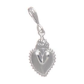 Ex-voto heart pendant in silver 925 s1
