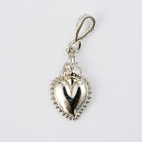 Colgante ex-voto forma corazón plata 800 s1