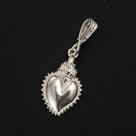 Colgante ex-voto forma corazón plata 800 s2