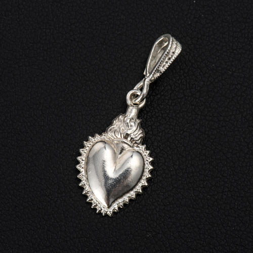 Colgante ex-voto forma corazón plata 800 2
