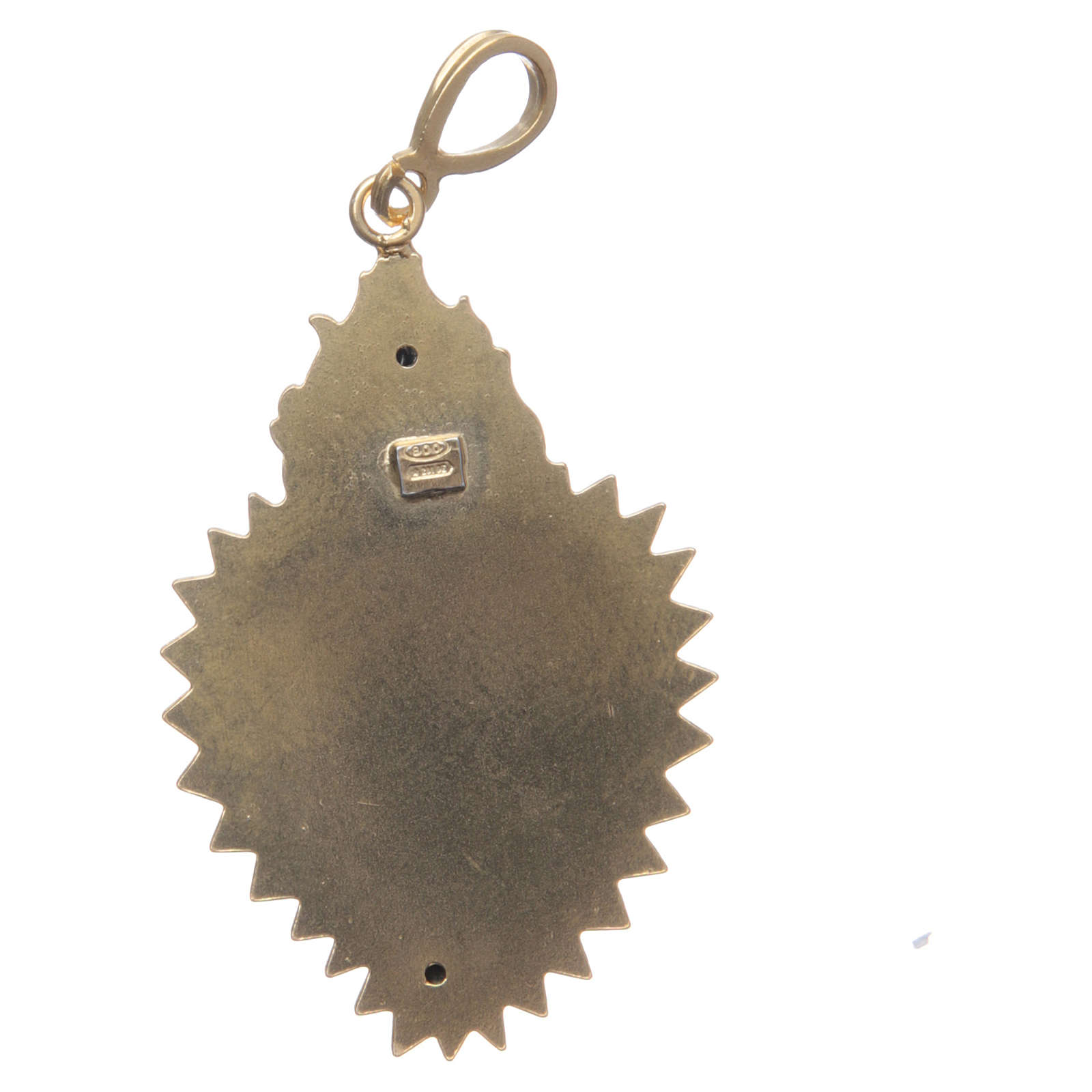 Pendentif coeur votif argent 800 doré. Ce coeur 4