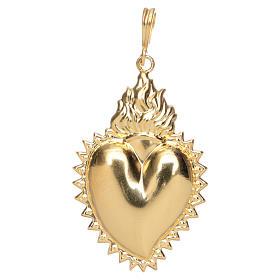 Pendentif coeur votif argent 800 doré. Ce coeur s1