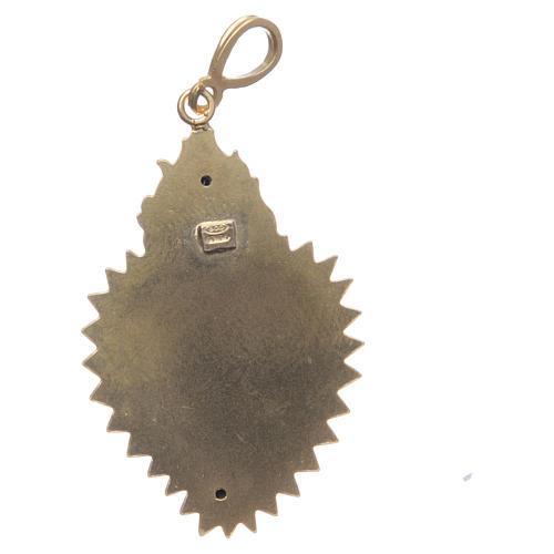 Pendentif coeur votif argent 800 doré. Ce coeur 2