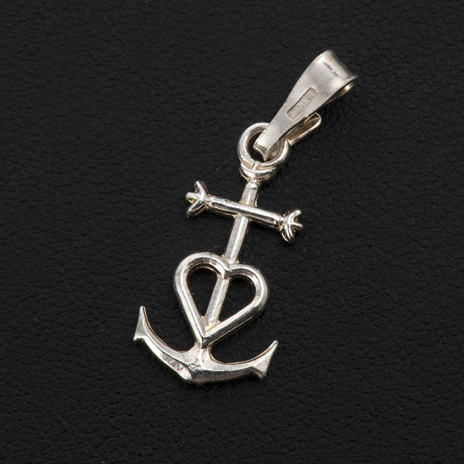 Faith hope and charity pendant in silver 925 4