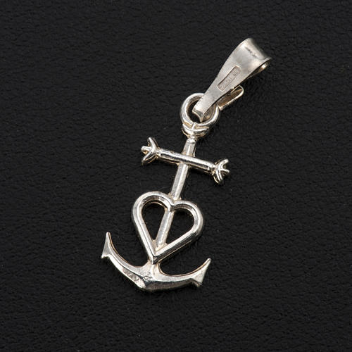 Faith hope and charity pendant in silver 925 2