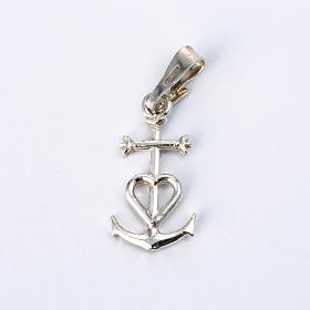 Faith hope and charity pendant in silver 925 s1
