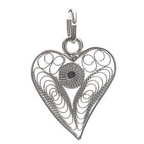 Pendant filigree heart in 800 silver s3